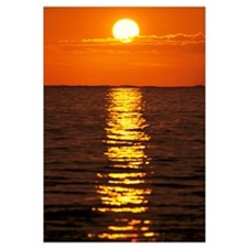 Sunset Reflections On Dark Ocean Water, Sun Ball I
