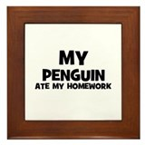 My Penguin Ate My Homework Framed Tile