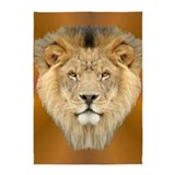 Lion Face 5'x7'Area Rug