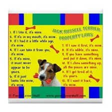 Cute Jack russel terriers Tile Coaster
