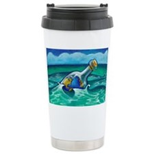 Illustration of the World in a  Ceramic Travel Mug