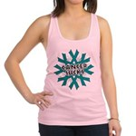 Ovarian Cancer Sucks Racerback Tank Top