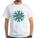 Ovarian Cancer Sucks White T-Shirt