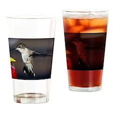 Hummingbird in Flight Drinking Glass