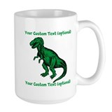 CUSTOM TEXT T-Rex Mug