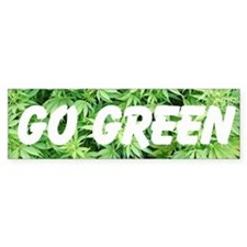 """Go Green"" Bumper Sticker"