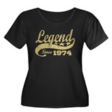 Legend Since 1974 Women's Plus Size Scoop Neck Dar
