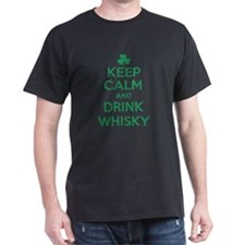 Keep Calm and Drink Whisky Irish T-Shirt