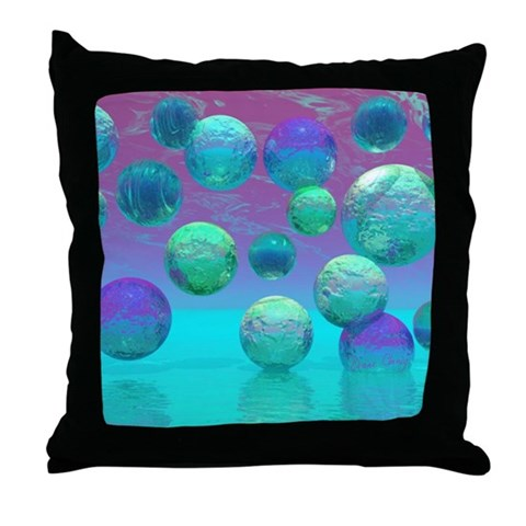 Ocean Dreams Aqua Violet Throw Pillow