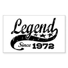 Legend Since 1972 Decal