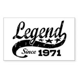 Legend Since 1971 Decal