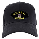Black Navy Veteran Cap