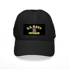 Black Navy Veteran Cap