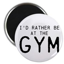 """Id rather be at the Gym 2.25"""" Magnet (10 pack"""