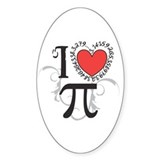 I heart Pi Decal