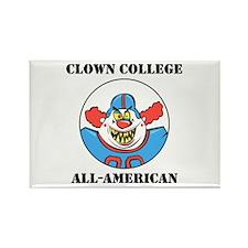 Clown College Football Rectangle Magnet