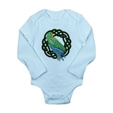 Celtic Eclectus Parrot Long Sleeve Infant Bodysuit