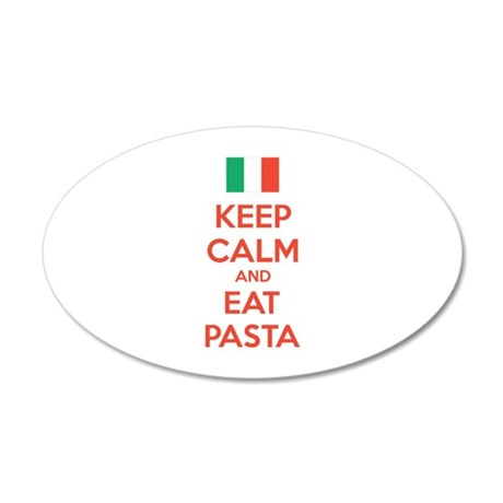 Keep Calm And Eat Pasta 22x14 Oval Wall Peel