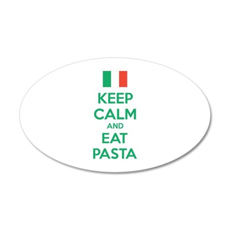 Keep Calm And Eat Pasta 38.5 x 24.5 Oval Wall Peel