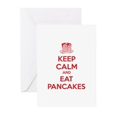 Keep Calm And Eat Pancakes Greeting Cards (Pk of 2