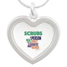 Scrubs Elliot Quote Silver Heart Necklace