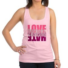 Love Hate Burpees Racerback Tank Top