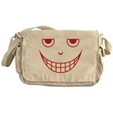 Creepy Scary Mean Halloween Face Messenger Bag