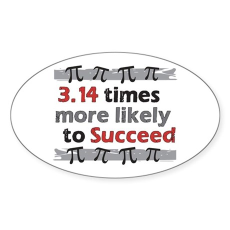 Pi Success Funny Math Sticker