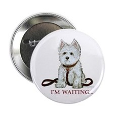 Westie Walks Button