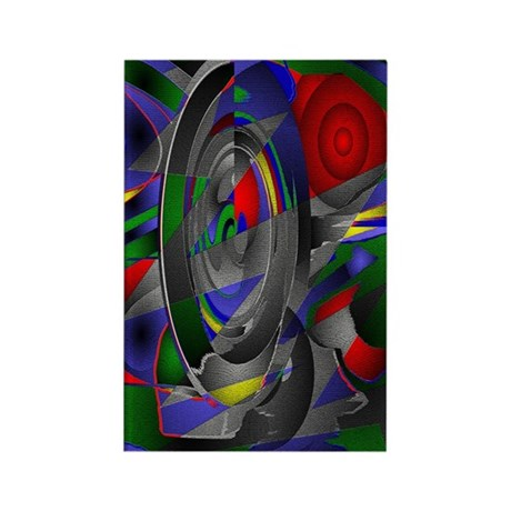 Abstract 002a Rectangle Magnet (100 pack)