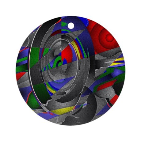 Abstract 002a Ornament (Round)