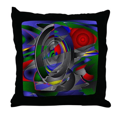 Abstract 002a Throw Pillow