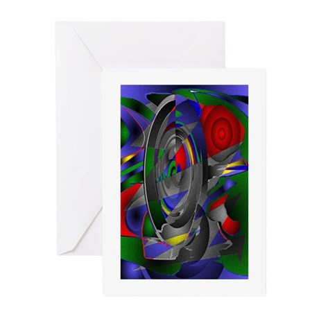 Abstract 002a Greeting Cards (Pk of 10)
