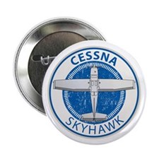 "Aviation Cessna Skyhawk 2.25"" Button (10 pack)"