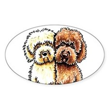 Cream Chocolate Labradoodle Decal