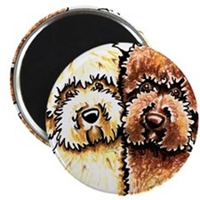 "Yellow Chocolate Labradoodle 2.25"" Magnet (100 pac"