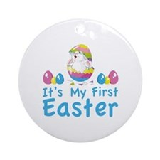 It's my first easter Ornament (Round)