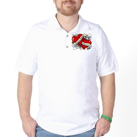 AIDS HIV Hope Dual Heart Golf Shirt