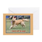 Golden Retriever Birthday Card Dancing