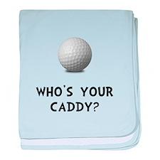 Whos Golf Caddy baby blanket