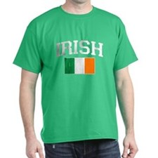 Vintage IRISH Flag (Distressed) T-Shirt