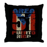 Area 51 Puerto Rico Throw Pillow