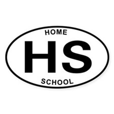 Homeschool 07 Oval Decal