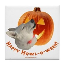 Happy Howl-o-ween! Tile Coaster