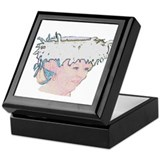 Beatrix light portrait Keepsake Box