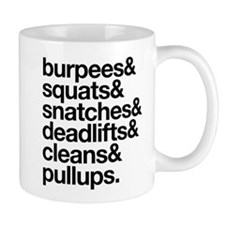 Crossfit Essentials Black Text Small Mug
