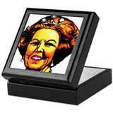 Queen with pearl earings Keepsake Box