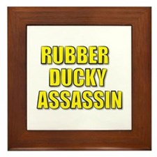 RUBBER DUCKY ASSASSIN Framed Tile
