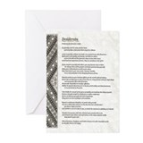 natural stone celtic parchment desiderata Greeting