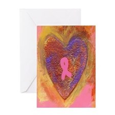Pink Ribbon Greeting Card